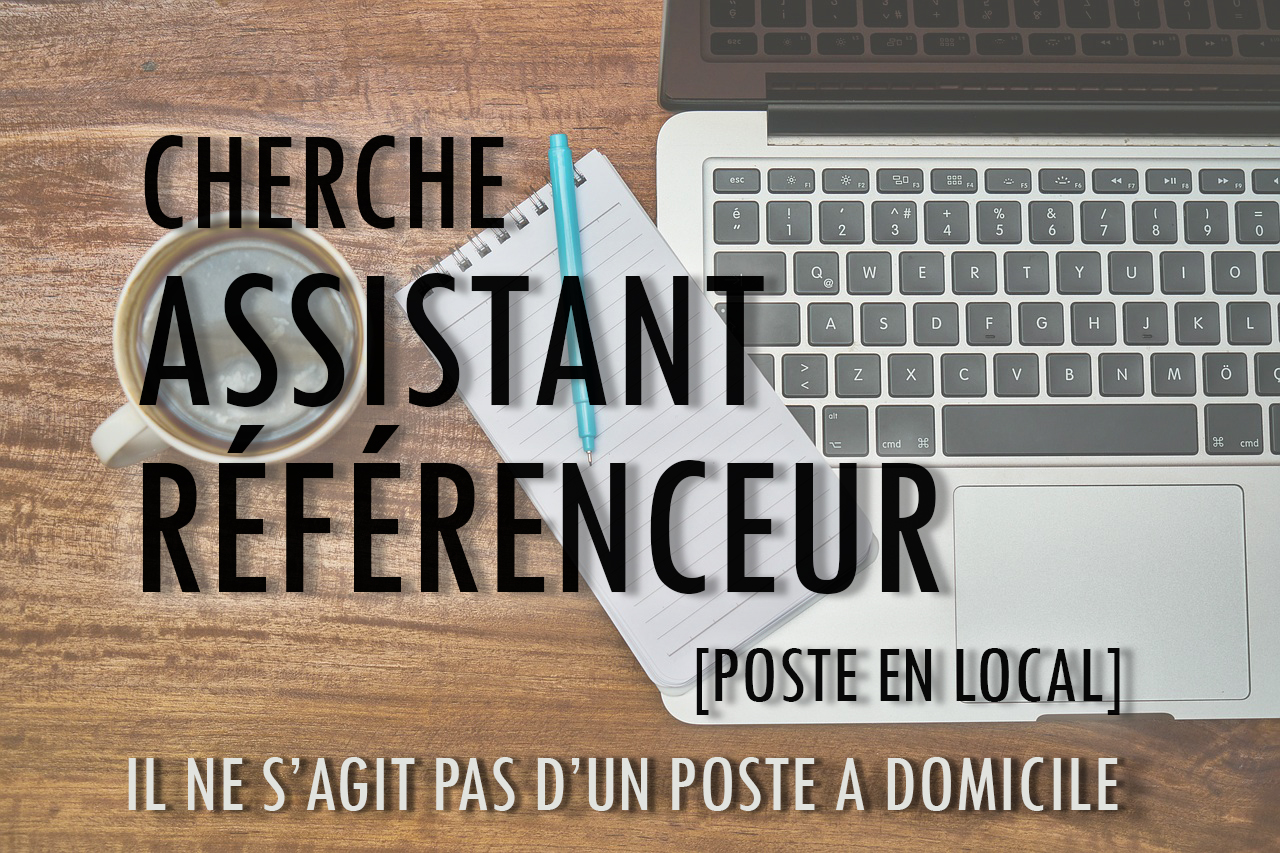 recrutement assistant referenceur