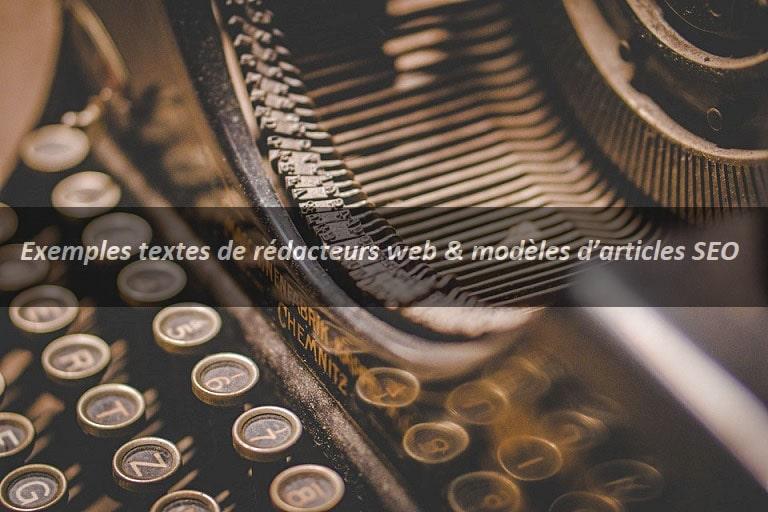 Exemple texte rédacteur web, exemple texte rédaction web, modèles articles SEO, exemple texte référencement